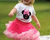 Minnie Mouse Birthday Shirt 2T Short Sleeve