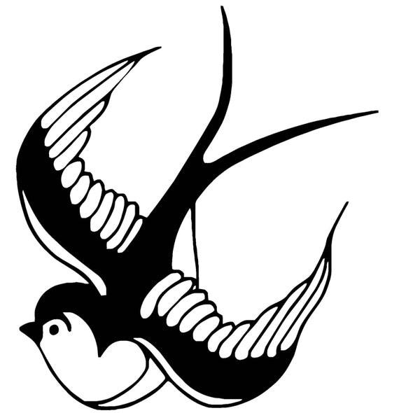 Swallow Bird Vinyl Decal  F31