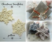 PDF Snowflakes Crochet Pattern - Crocheted Snowflakes,crocheted applique,crocheted decor,snowflake decoration,photo tutorial