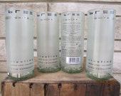Recycled Bree white wine bottle tumblers set of 4