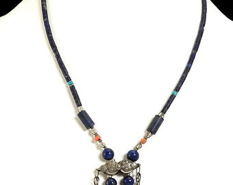 Lapis Silver Beads Afghanistan 72863