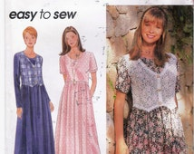 Simplicity 9597 Womens Pattern Dress Pattern Mock Vest Pullover Dress Pattern Size L - XL COMPLETE Patterns Sewing Supplies YacketUSA