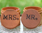 wedding ring boxes Ring Bearer Wedding set round 2 boxes Wedding Ring Box MR and MRS bride and groom