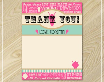 Ice Cream Party - Ice Cream Thank You Cards - Thank You Notes