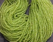 Peridotl balls shape faceted round beads, 4 mm AAA Quality