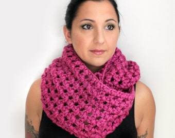 Pink Flambé Fashion Infinity Scarf, French Berry Soft Oversized Extra Wide Infinity Scarf, Winter Fashion Trends and Accessories