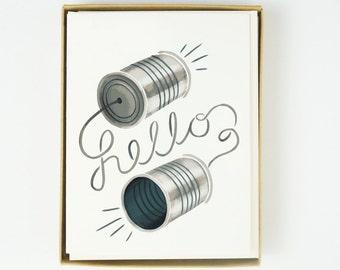 Tin Can Hello Card 8pcs