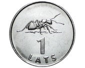 Rare coin - ANT Coin for Luck - Jewelry Making - Scrapbooking - Original Presents - Supplies - Collectibles Coin - Numismatics