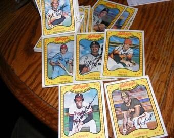 Kelloggs 1981 3D Baseball card set no cracks