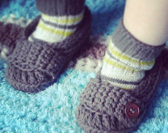 Baby Boys Crochet Slippers/Shoes