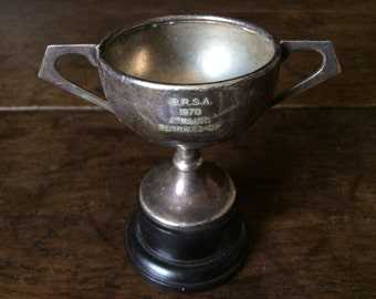 Vintage English trophy cup B.R.S.A 1970 Angling Fishing Runners-Up Fishing / English Shop