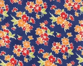 Miss Kate Spring Navy Floral by Bonnie & Camille for Moda