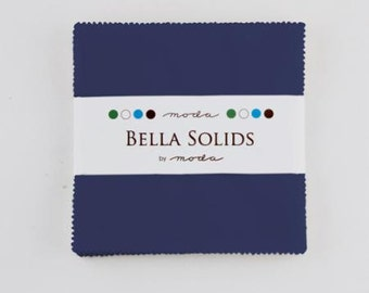 Bella Solids Charm Pack Admiral Blue by Moda - available to ship Oct 1 2015