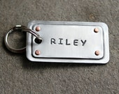 Large Custom pet ID tag- personalized metal name plate for big dogs-Name Plates