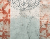 fine art print, Voyage Under the Flower of Life, fine art print