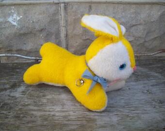 Vintage Lullaby Bunny Rabbit / Easter Bunny Toy /  Musical Bunny / Stuffed Toy Rabbit / Nursery