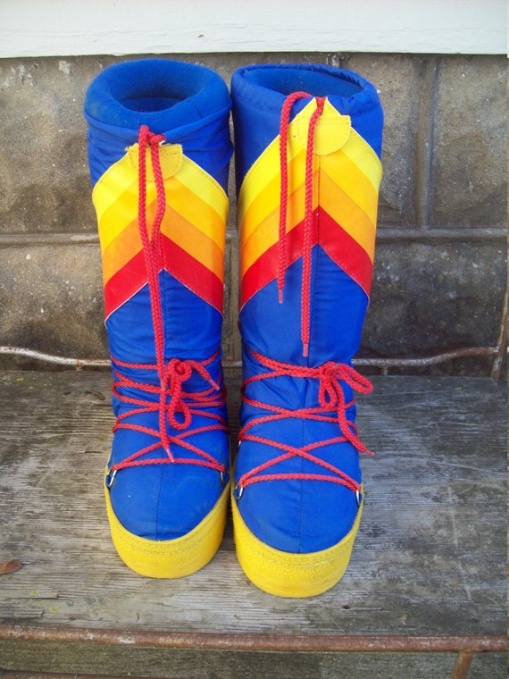 Authentic 80s Rainbow Moon Boots Womens Size 7 8