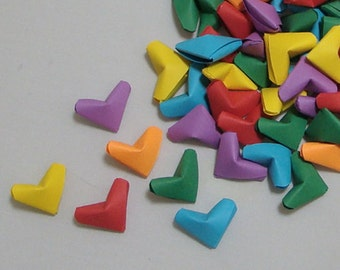 Small Origami Hearts (100): Rainbow-Colors Paper Hearts