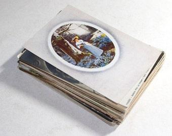 75 Vintage Art Used Postcard Assortment