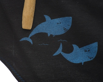 Shark Week Period Panties Boy-Cut Underwear - Recycled Cotton - Women's 4 - Ready to Ship