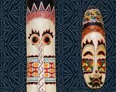 African Batik Allover Tribal Furniture Stencil for DIY Decor