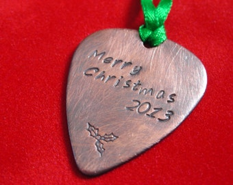 Guitar Pick Christmas Ornament Guitar Pick OrnamentChristmas