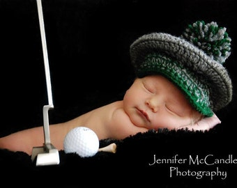 Tee Time - Golf Hat - Newborn/Baby - Made to Order
