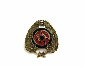 Military Style Pendant or Brooch