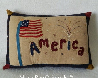 """Decorative Pillow/America Pillow ~ Designer/Throw/Accent/ Sofa/Chair/ Pillow 15"""" x 20"""" - 4TH Of July, Memorial Day, Flag Day, Labor Day"""