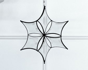 Large Morphing 3D Beveled Glass Star Suncatcher