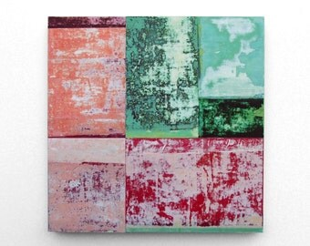 Test Pattern (Cumulus) - original mixed media abstract painting on panel