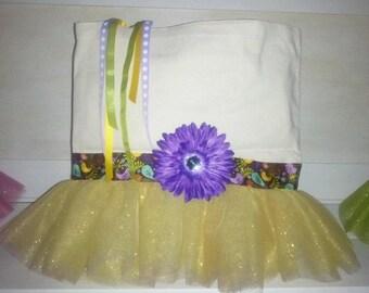 Canvas Tutu Tote Bag - Medium Size