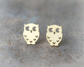 Cute Owl earrings in gold