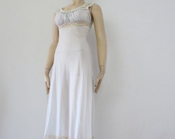 60s Vintage Sexy Sheer Nylon and lace gown negligee Saks Fifth Ave