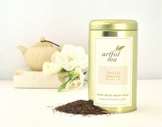 Vanilla Rooibos Herbal Tea • Luxury Loose Leaf Rooibos w/ Rich Creamy Vanilla • Caffeine-Free Blend