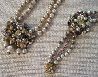 RARE and marvellous Miriam Haskell necklace & bracelet set