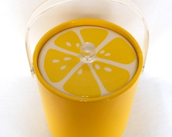 RETRO Yellow Daisy ICE BUCKET/ Retro Bar Ware
