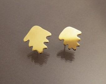 Oak tree leaves earrings