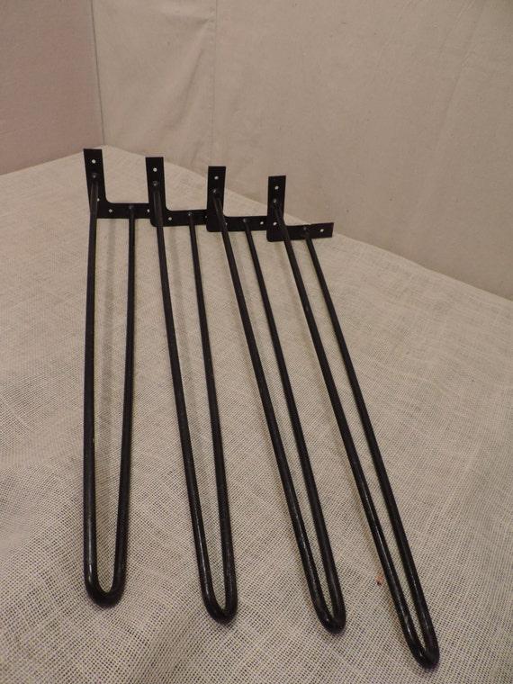 hair pin table legs 29 inch legs metal legs set of 4 modern. Black Bedroom Furniture Sets. Home Design Ideas