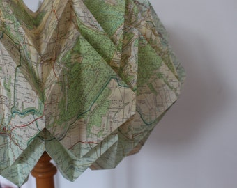 Origami Lampshade Ceiling Light Maps OS Vintage Ordnance Survey Map Ceiling Light Lamp Shade Folded Road World