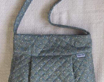 Green Quilted Shoulder Bag
