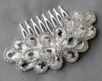 Bridal Headpiece Tiara Headband Rhinestone Hair Comb Accessory Wedding Jewelry Crystal Flower Side Tiara CM081LX