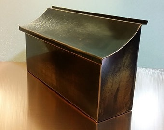 flush mount patina copper mailbox - Wall Mount Mailboxes