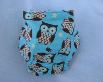 Little Owls Fitted Diaper Size Small