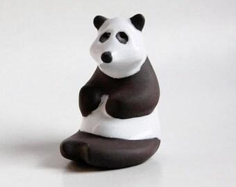 Mid Century Cor Unum Panda Bear Figurine - Dutch Pottery c.70s 80s