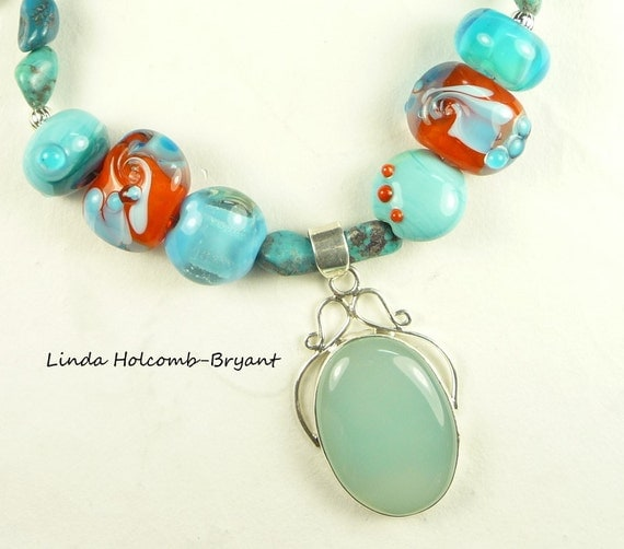 Necklace of Turquoise & Orange
