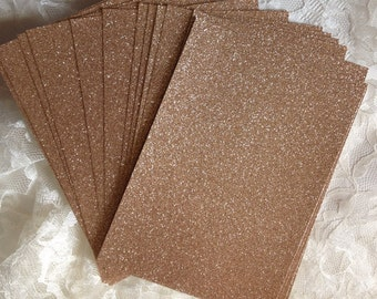 DIY Glitter Cardstock 5x7 for Wedding or Quince Invitations - Table Numbers - Menus - Programs - Scrapbooking - Cardmaking