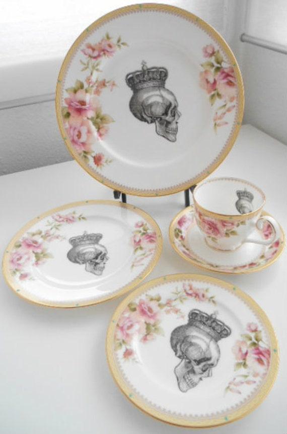 Noritake Hertford Skull Flower Dinnnerware Plate/Cup Discounts on Larger Orders PAYMENT PLANS & Noritake Hertford Skull Flower Dinnnerware Plate/Cup on