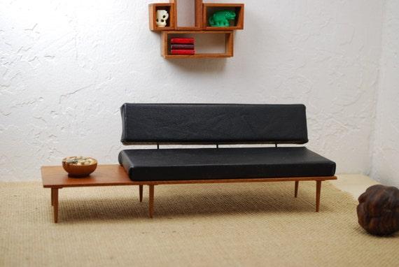 Mid Century Leather Sofa. Best Images About Mid Century Modern ...