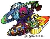 Dr Strangeopus - The Tentacle Collection - Original Art postcards